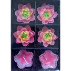 Floating Candles (Set of 6) - Flower design