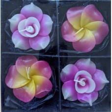 Floating Candles (Set of 4) - Large Flower design