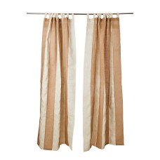 Elegant Burlap Curtains for Bedroom or Living Room | Breezy Country Farmhouse Decor