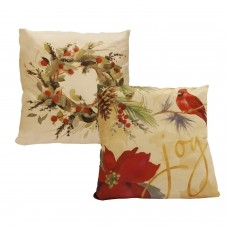 GeetuBerry Luxury Satin Cushion/Pillow Covers - Holiday Themed (Set of 2)
